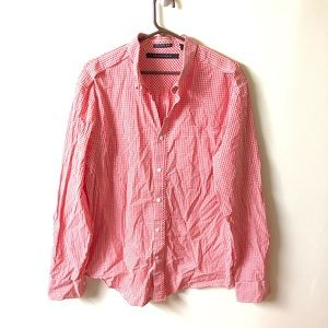 Sean John tailored fit XL gingham checkered shirt